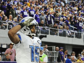Golden Tate unveils military salute celebration after score