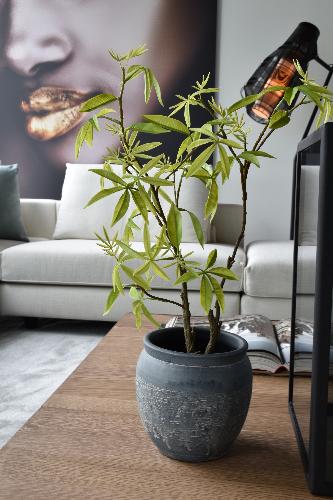 kunstplant in een modern interieur