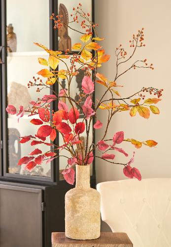 Zijden blad takken in herfst tinten