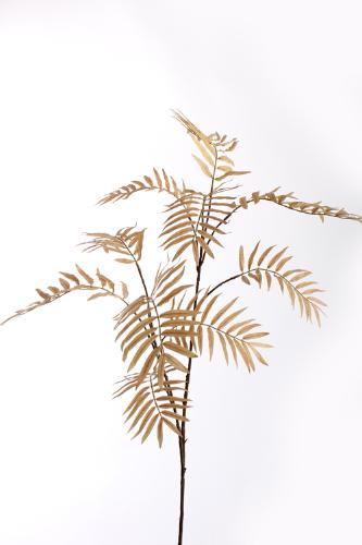 amber kleurige zijden palm tak