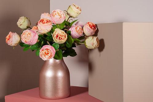 gemengde roze rozen