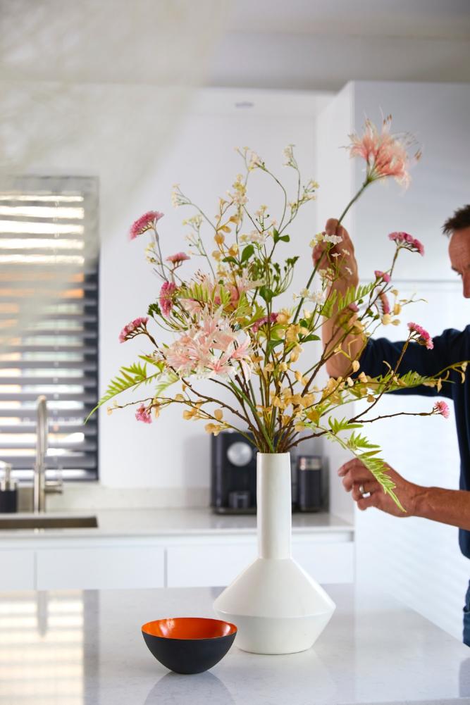 losse luchtige kunst bloemen