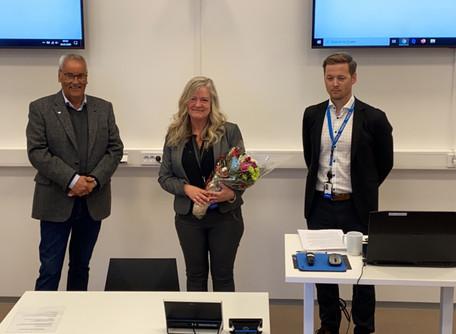 Studiesenteret gratulerer Ragnvald Storvoll som «doktor philosophia».
