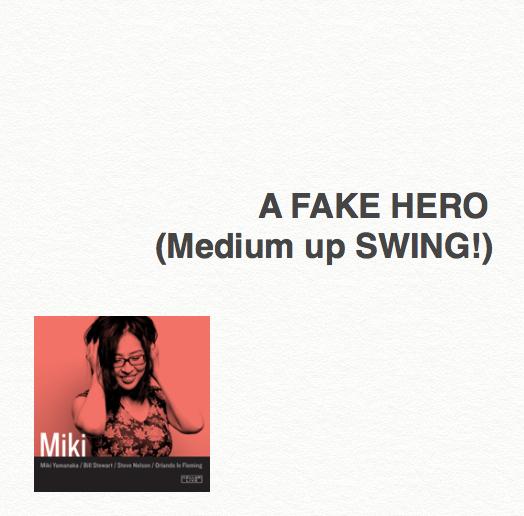 A Fake Hero - Lead sheet