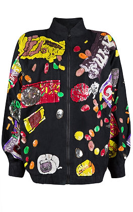 SEQUIN SWEET WRAPPER JACKET