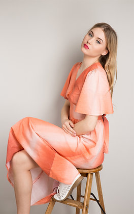 OMBRÉ PEACH MAXI DRESS