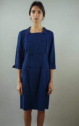 1960'S VINTAGE BLUE SHIFT DRESS