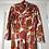 Thumbnail: GEOMETRIC , COWL NECK 70'S DRESS