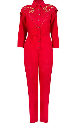 COWGIRL RED JUMPSUIT