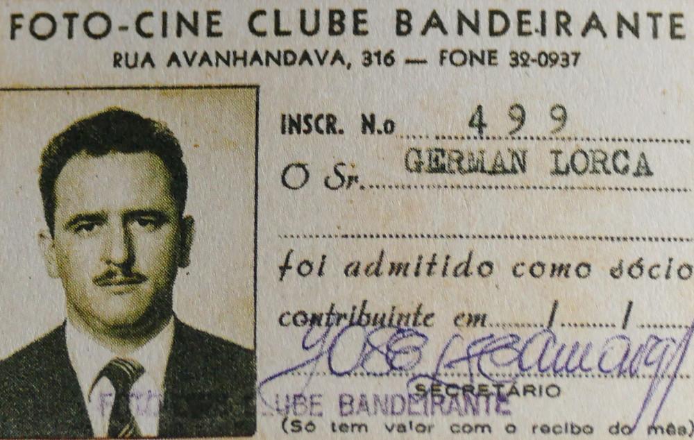 Carteirinha de German Lorca