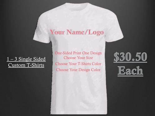 Custom Shirt Design (one sided)