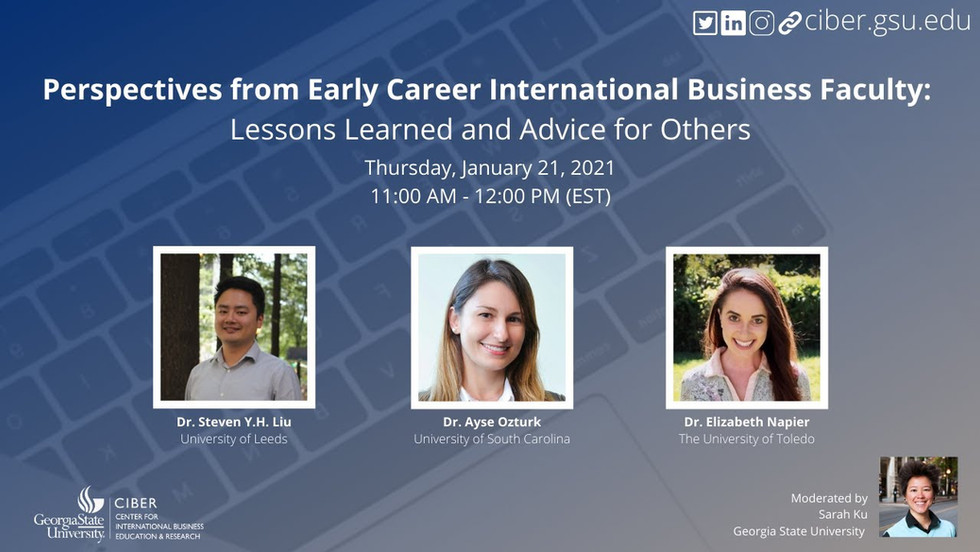Perspectives from Early Career International Business Faculty