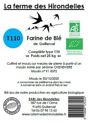 Farine de Blé Bio T110 (2 kg)