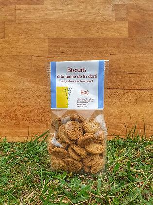 Biscuits sucrés farine de Lin Doré Graines de Tournesol (150 g)
