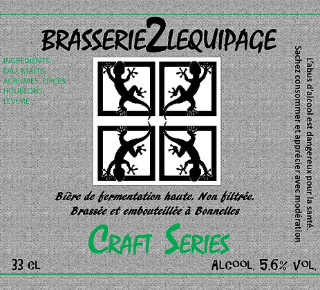 Bière  BRASSERIE2LEQUIPAGE - CRAFT SERIE - Fruits Exotiques (33 cl)