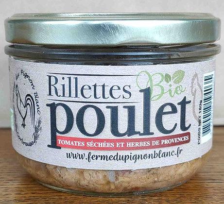 Rillettes de poulet bio (Tomates Séchées-Herbes de Provences ) 180 g