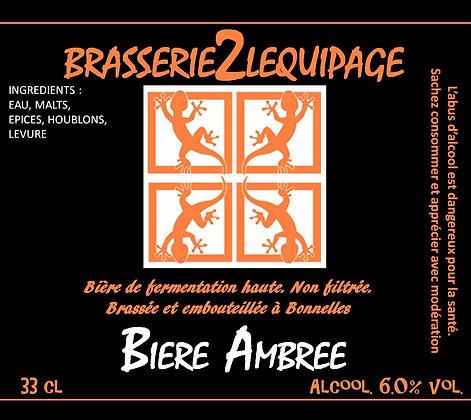 PACK Bière - BRASSERIE 2 LEQUIPAGE (AMBRÉE) 6x33cl