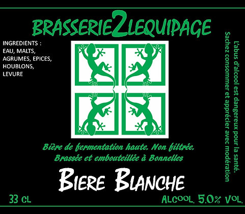 Bière BRASSERIE2LEQUIPAGE - BLANCHE (33 cl)
