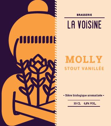Bière LA VOISINE - MOLLY - STOUT VANILLÉE (33 cl - BIO)