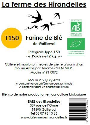 Farine de Blé Bio T150 (2 kg)