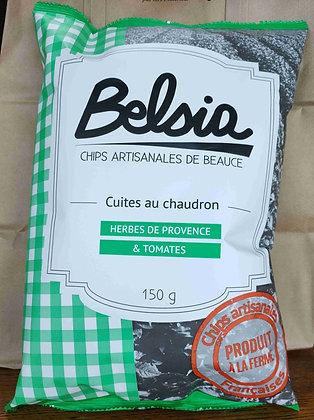 Chips Artisanales aux Herbes de Provence et Tomates (150 g)