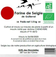 Farine de Seigle Bio (1.5 kg)