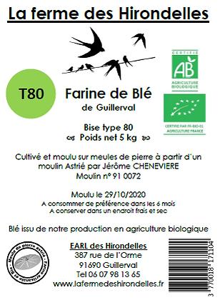 Farine de Blé Bio Bise T80 (5 kg)