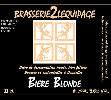 PACK - BRASSERIE 2 LEQUIPAGE (BLONDE PALE ALE) 6x33cl