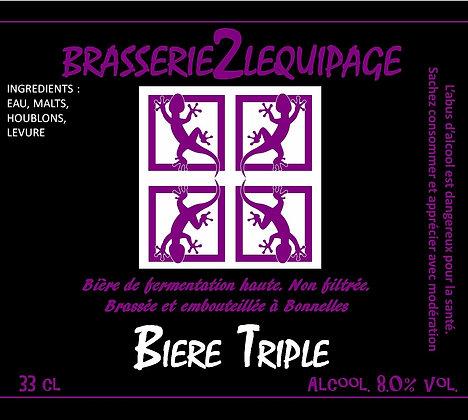 Bière  BRASSERIE2LEQUIPAGE -TRIPLE (33 cl)