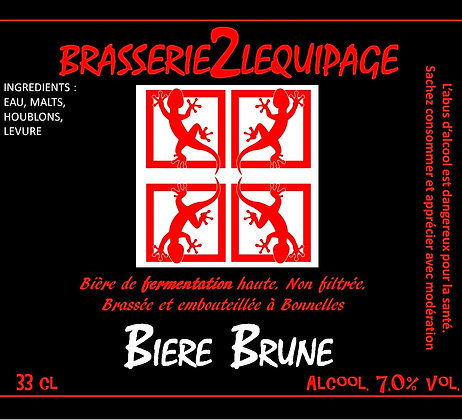 Bière  BRASSERIE2LEQUIPAGE - BRUNE (33 cl)