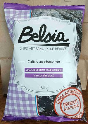Chips Artisanales au Vinaigre de Champagne-Ardenne  (150 g)