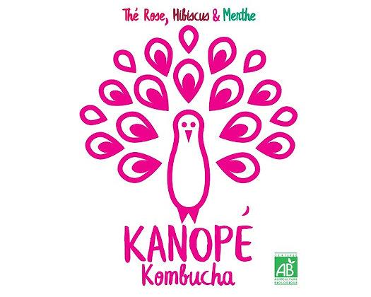 KANOPÉ - KOMBUCHA  -Thé Rose - Hibiscus - Menthe (33 cL)
