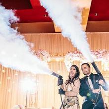 Die CO2-Kanone im Einsatz auf einer Hochzeit 2