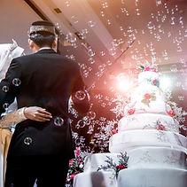 Hochzeitstorte - Seifenblasen - HochzeitsDJ.