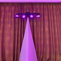 DJ Alex Finger - schicke Multi-Effekt-Bar mit Partylicht und Laser