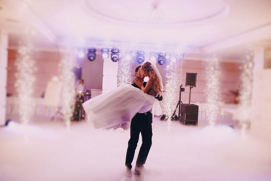 Hochzeit DJ Sparklers Indoorfeuerwerk.jp