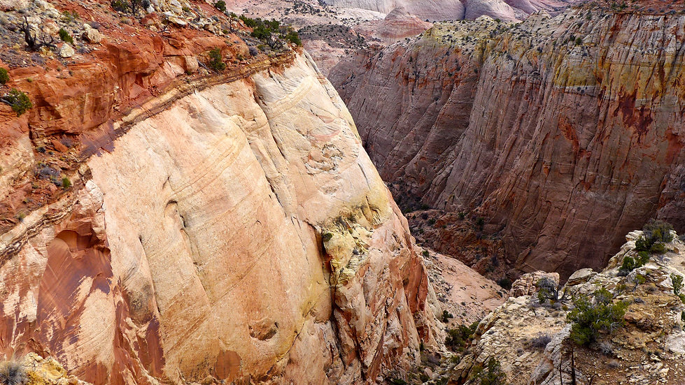 Utah Slickrock Guides hiking route, Grand Staircase—Escalante National Monument, near Boulder & Escalante, Utah.