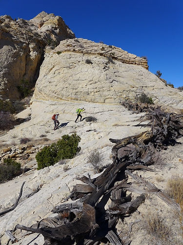 Guided cross-country dayhike, Grand Staircase—Escalante National Monument, near Boulder & Escalante, Utah.