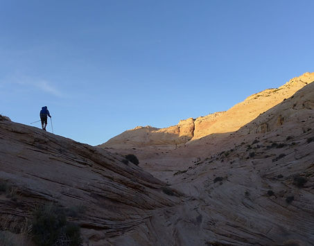 slickrock hiking, Grand Staircase—Escalante National Monument, near Boulder & Escalante, Utah.