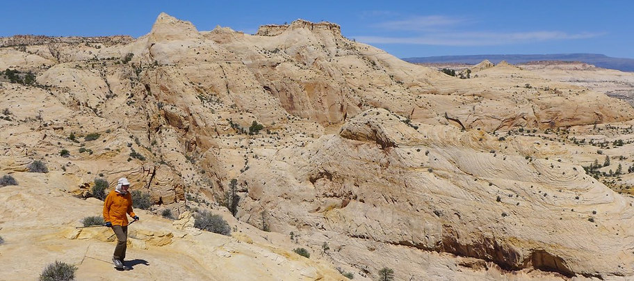 Guided slickrock hiking, Grand Staircase—Escalante National Monument, near Boulder & Escalante, Utah.