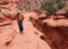 Slot canyon guided hiking Grand Staircase Escalante National Monument Boulder Escalante Utah