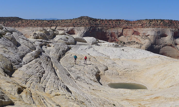 Guided hiking, Grand Staircase—Escalante National Monument, near Boulder & Escalante, Utah.