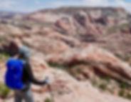 Slickrock hiking, Grand Staircase—Escalante National Monument, near Boulder & Escalante, Utah