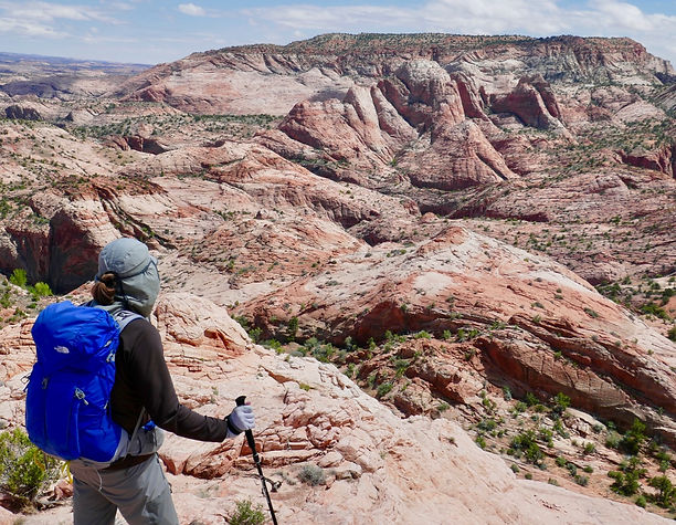 Slickrock hiking, Grand Staircase—Escalante National Monument, near Boulder & Escalante, Utah