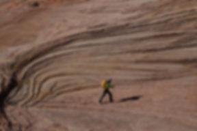 slot-canyon hiking, Grand Staircase—Escalante National Monument, near Boulder & Escalante, Utah.