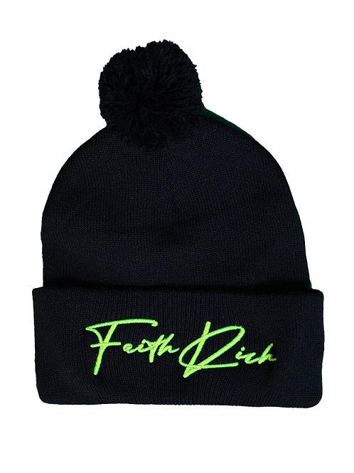 Faith Rich Highlighter 3D Puff Signature Beanie