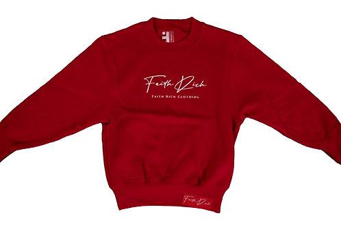 Youth Cherry All Faith Crewneck Sweater