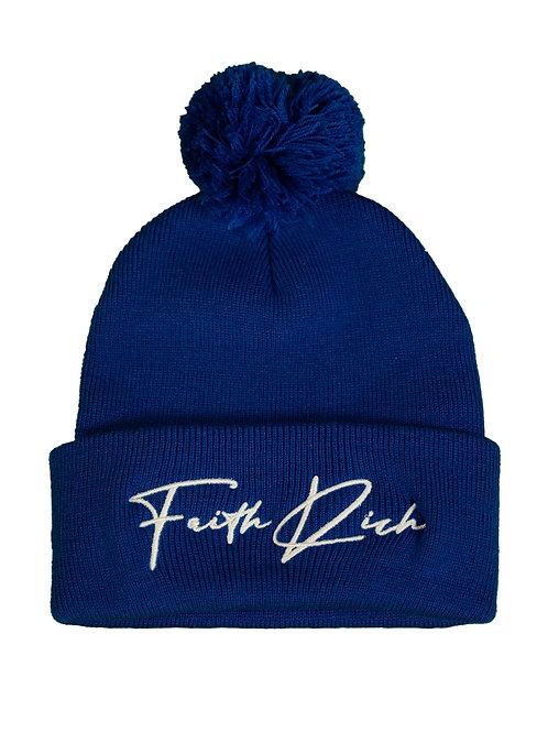 Faith Rich Royal 3D Puff Signature Beanie