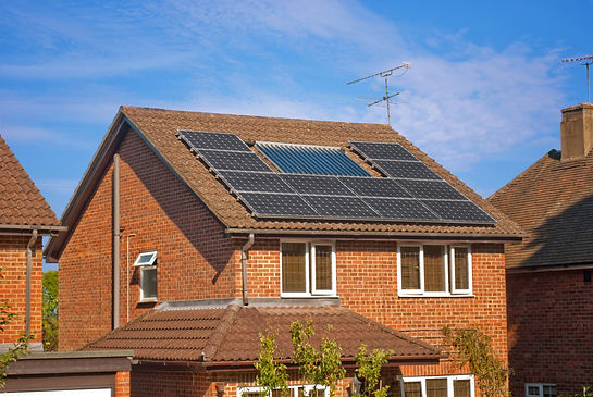 House with solar panels on roof - regene