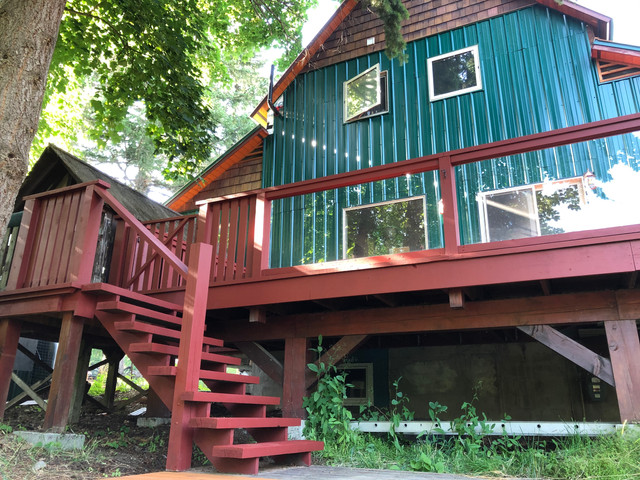 Deck & Stairs Repair, Sand & Stain in Rossland